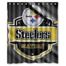 Pittsburgh Steelers Flag Waterproof Bathroom Shower Curtain Polyester Fabric