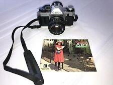 Vintage Canon AE-1 Program 35mm SLR Camera with 50mm f/1.8 Lens With Manual