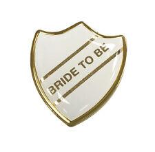 Bride To Be Gel Domed School Shield Wedding Badge