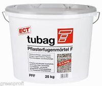 Tubag Pflasterfugenmörtel PFF 25 KG wasserdurchlässig FIX UND FERTIG Steingrau