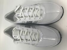 New Nike Women's Air Brassie Size 10 Medium Golf Shoes White/Silver Leather