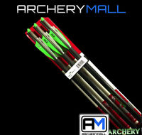"""6 VICTORY CARBON CROSSBOW BOLTS / ARROWS 20"""" 1/2 MOON fits PSE FANG, AND OTHERS"""