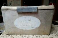 Vintage Drink Pepsi Cola Aluminum Ice Box Cooler Cronstroms USA