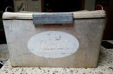 Vintage Drink Pepsi Cola Aluminum Ice Box Cooler Cronstroms USA