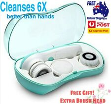 3 in 1 Waterproof Electric Facial Cleansing Brush Face Body Skin Massager Free G