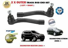 SSANGYON KYRON 2.0 DT REXTON RX270 RX290 RX320 2002->NEW 2 x OUTER TRACK ROD END