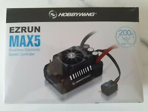 HOBBYWING XERUN 200A MAX5 SENSORLESS 1/5TH ESC 8S GENUINE PRODUCT SEALED