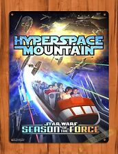 Tin Sign Disney Hyperspace Mountain Space Star Wars Attraction Ride Poster