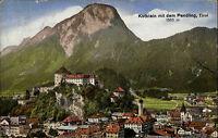Kufstein Tirol alte Color Postkarte 1921 Gesamtansicht Panorama mit dem Pendling