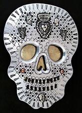 "Day of the Dead Mirrored Sugar Skull Ex Voto Milagros Mexican Folk Art LG 11"""