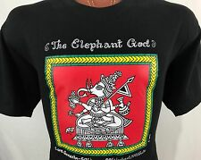 The Elephant God Lord Ganesha Ganesh Black Graphic T Shirt 100% Cotton XL
