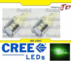 LED Light 5W 7440 Green Two Bulbs Front Turn Signal Replace Upgrade Show