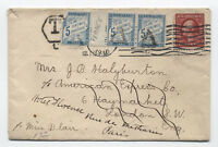 1910 US cover to UK and Paris with French postage dues [y3098]