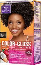 Dark and Lovely Color-Gloss Ultra Radiant Color Creme, Natural Black 1 ea