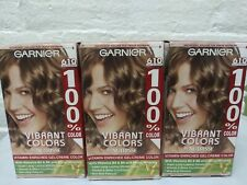 3 ~ Garnier Hair Color Light Ash Brown 610 100% Color Vitamin Enriched Read!