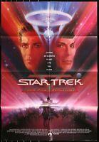 STAR TREK William Shatner  ORIGINAL 1989 1-SHEET MOVIE POSTER 27 x 41 Authentic
