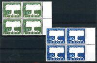 Bund 4er Blöcke Bogenrand MiNr. 268-69 v postfrisch MNH (P395