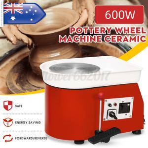 600W 25cm Pottery Wheel Machine Ceramic Work Ceramics Clay Foot Pedal Art Diy