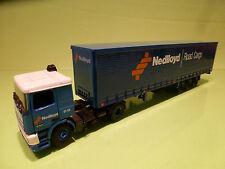 TEKNO HOLLAND DAF 95 360 ATI TRUCK + TRAILER - NEDLLOYD ROAD CARGO - BLUE 1:50