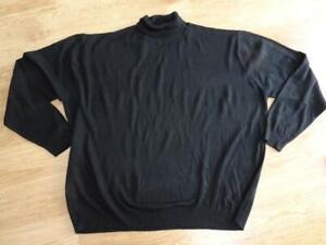 CAPSULE MEN JACAMO mens black polo roll neck fine knit jumper 4XL ( XXXXL )
