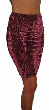WOMENS PENCIL MIDI HIGH WAIST BODYCON STRETCH SKIRT SIZE UK 8 10 12 14 16 18 20