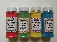 4 Coloured Sand Shakers 190g Each