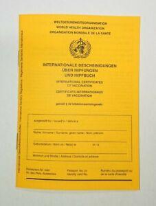 Internationaler Impfpass Impfausweis International Corona-Impfbescheinigung