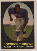 1958 Topps #102 Roosevelt Brown VG-VGEX+ New York Giants FREE SHIPPING