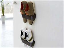 Magnetic Shoe Holder Rack Fix it on Wall / Door / Cupboard - Brown Color