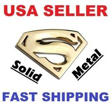 3D 【GOLD】 SOLID METAL Emblem 【 Superman 】 TYPE 【S】 Car Logo Badge Sticker Decal