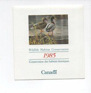 Canada mint never hinged MNH 1985 Mallard Duck Wildlife Conservation Stamp