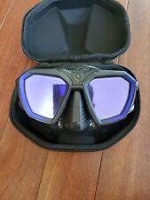 Scuba Pro D Tru-fit Tempered Lens mask (Blue) with Case, Excellent Condition