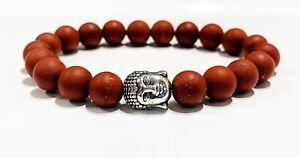 New Matt Red Jasper Amulet  Bracelet Healing Gemstone GROUNDING IMMUNITY HEALTH
