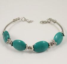 Rare Asian Tibet Silver Turquoise Bracelet