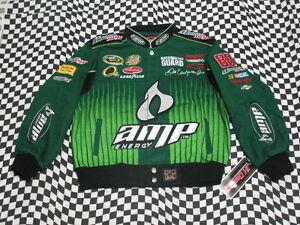 Dale Earnhardt Jr Green AMP KIDS Jacket! Size YOUTH LARGE