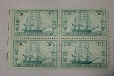 $0.03 Cents U.S. Frigate Constitution  1797-1947 Stamps Plate Block of 4