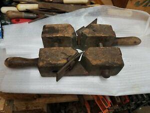 Antique Cooper's Wood Barrel Bung Maker Primitive Tool