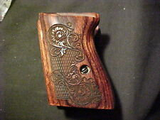 Walther PPK Pistol Grips Rosewood Checkered+Engraved Pattern Beautiful NEW!