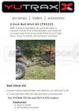 """TX112 YUTRAX Trail Warrior Carts ATV 2"""" Ball Hitch Conversion Trailer Tow Kit"""