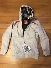 Women's Light Grey Roxy Originals Ski Snowboard Jacket Top Size Medium Ladies