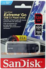 SanDisk 128 GB 128G CZ800 EXTREME GO USB 3.1 3.0 flash Thumb Drive Memory 200MBs