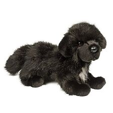 "Bundy Newfoundland 13"" black dog stuffed animal plush newfie Douglas Cuddle Toy"