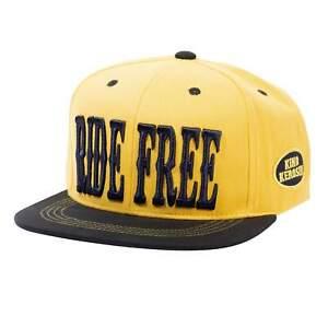 King Kerosin Herren Snapback Cap Flat Brim Cap | Stickerei | Baumwolle Ride Free