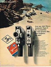 PUBLICITE ADVERTISING 055  1967  AGFA   caméra MOVEX AUTOMATIC SUPER 8