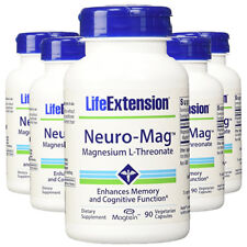 Neuro-Mag Magnesium L-Threonate from 2000 mg Magtein - Life Extension 5X90caps