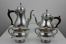 Walker & Hall Sheffield 4 Pieces Silver Plated Footed Tea/ Coffee Set Stunning