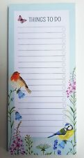 Sass & Belle Garden Birds Things to Do Notepad Magnetic Memo Notes Notelet Pad