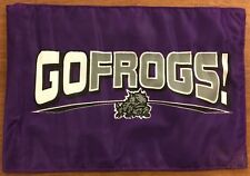 "TCU Frogs ""Go, Frogs"" automobile flag or banner with window pole attachment"