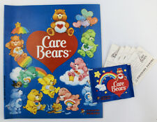 Vintage 1985 Care Bears Sticker Album Book with 1 Unopened Pack & 5 Loose Sticke