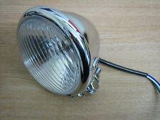"In UK 4 1/2"" Chrome Head/Spot Light Cycle Haven Fit Harley Custom Bob Chop Trike"